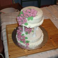 Finale From Cake Class My first fondant cake. Found out I hate making fondant roses! lol