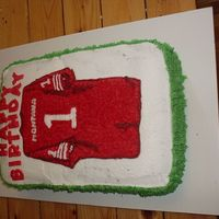 Montana Jersey This is my first 'stranger order'! It's for a little boy's first birthday (hence the 1 and not the 16 that it should be...