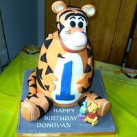Tigger I made this for my friends little boy's 1st bday, it's vanilla cake with vanilla buttercream. TFL