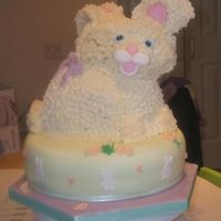 Easter Bunny I made this cake for a charity event on Tuesday, the bottom is chocolate cake with chocolate buttercream and the bunny is vanilla cake, I...