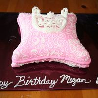 Pillow Tiara Cake This was my first pillow cake. Second attempt at the tiara.