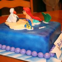 Ariel, Scuttle, And Flounder My second time make fondant characters.