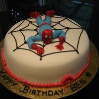 Spiderman   My first attempt at a spiderman cake.