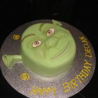 Shrek   my first shrek cake!!