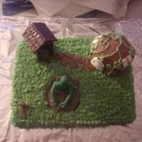 Shrek's Swamp I made this cake for my little boy just to practice. The outhouse is made from melted chocolate and molds as well as shrek. The house is...