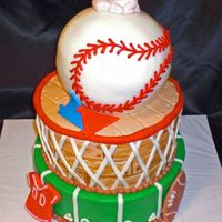 Sports Baby Cake This cake was made to match the sports theme party decorations. Thanks for looking.