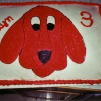 Clifford  This was another cake for my niece. I had no idea I could freehand until I did her Elmo cake the year before. This was long before any...