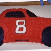 #8 Race Car This was a cake I made for my nephew 4 years ago. My SIL loves Dale Jr. so she requested this cake. I would change so many things if I did...