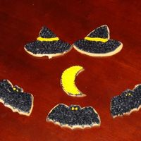 Witch's Hat, Bats, Moon Cookies