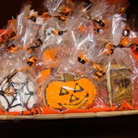Halloween Cookies In Basket