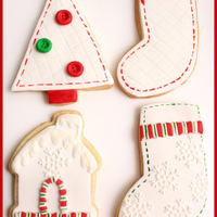 Holiday Cookies   Christmas cookies with fondant and royal icing
