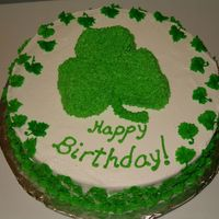 Shamrock Birthday  Shamrocks are popular this year for some reason. I had to improvise on this cake since I did not have a shamrock pan and I did not want to...