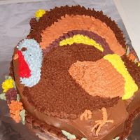 Thanksgiving Turkey  This cake took me four hours to pipe out! I was shocked at the amount of time that I spent on it. My mother requested a turkey cake for...