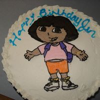 Dora My first FBCT - learned it all from this site. WASC, Cream cheese frosting.