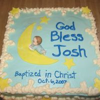 Baptism Cake I made this for my nephew's baptism. I got the idea from Diane here at CC. THanks for sharing your cakes! It is buttercream with mmf...