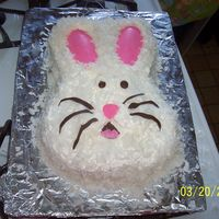 Wliton Easter Bunny   coconut shaved topping , chocolate eye, inner ear nose and whiskers