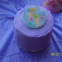 Tinkerbell Small Cake   small cake topped with a lens to night light