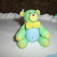 Baby Shower Bear Made from Fondant