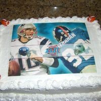 Super Bowl 2008 First edible image cake. So easy!