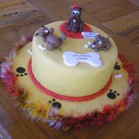 Doggie Cake I made this cake for a lady who was celebrating her 65 birthday. She loves dogs!! Thanks SO much to aine2 for her inspiration! She is super...