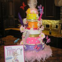 "Fancy Nancy Birthday Cake This is a cake I made for my daughter's 4th birthday. It is based off of the children's book ""Fancy Nancy"". It was..."