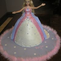 Princess Barbie Cake I made this for a client's daughter's 7th birthday. I was a bit hesitant since I know that our local grocery store makes them too...