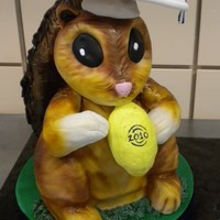 Graduation Squirrel I made this cake for a girl's high school graduation. She loves squirrels! Head, arms and lemon are made from RKT. The cake was...