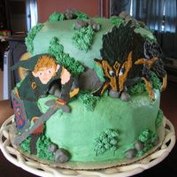 Zelda Cake  Here a is a cake I did for my sons 6th birthday. I got the idea from cake central. Everything done in buttercream other then the wolf and...