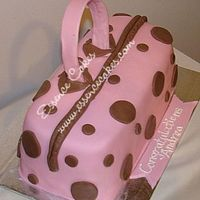 Purse Cake Rich dark chocolate cake with ganache filling for a Bridal Showe