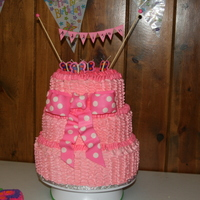 Ruffle Cake This was for a first birthday party. The cake matched the little birthday girls dress! It was a very very hot, humid and stormy day, so my...