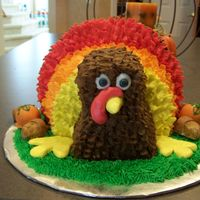 Turkey Cake Our very own tom turkey for dessert this thanksgiving