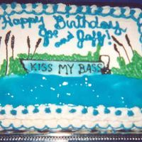 Kiss My Bass This was for my husband and brother in law's birthday.