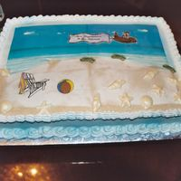Retirement Cake - Beach Scene