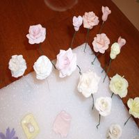 Gumpaste Flowerrs Roses and leaves they havent been finished yet.