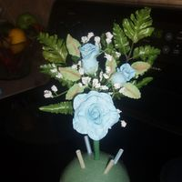 Gumpaste Floral I did not make Fern or Babys breathe just Leaves and Roses