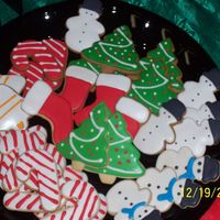 "Christmas Cookie Tray NFSC w/ Antonias icing and Gingerbread Cookies w/ antonias icing. They are my ""small"" cookies . *note to self Gingerbread domes..."