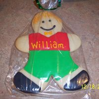 Big Not Gingerbread Gingerbread Boy nfsc w/ antonias icing...this is my not gingerbread Gingerbread boy...lol...while i was making them my DH came in and joked w/ me....my GBB...