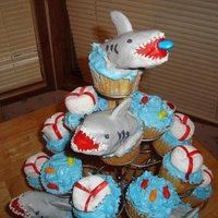 "Shark Cupcakes   From the book ""Hello Cupcake"""