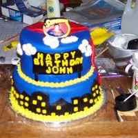 Superman Cake For My Nephew's 4Th Birthday Party I borrowed some ideas from a cake I saw here on CC which was made by someone whose name I don't remember..so sorry..lol.. Her cake was...