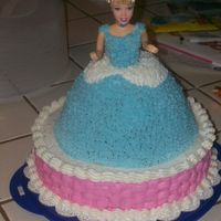 Cinderella Birthday Doll This is my first doll cake I made it for my granddaughters 4th birthday. It has some mistakes but I am happy with it and she loved it.