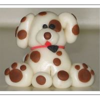 My First Fondant Puppy Puppy is made out of MMF. He was so fun to make. This is the first time I sculpted a figure. I followed directions from a sculpey book. Can...