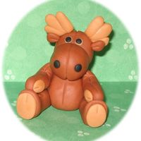 Moose I created this little fondant moose for fun and practice. He was fun to make. Thanks for looking!