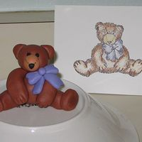 Bear For Mom! I created this little fondant bear to match a rubber stamp I have. I'm a rubber stamper and thought it would be fun to make my mom a...