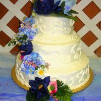 20Th Anniversary  This is my first tiered cake ever and first paid order - super super super nervous, for a Pastor and Deacon's anniversary. I got a...