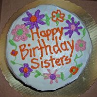 Neighbor's Birthday Cake my neighbors are 3 sisters who live together, and their birthdays are all within a week of each other's - very cute...this is my...