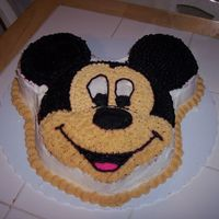 Mickey Mouse I did this for my son's first bday - he loved it!!