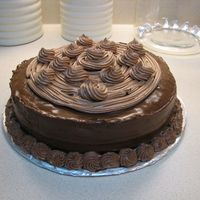 Super Chocolate Cake  This is a chocolate fudge cake with mocha mousse filling. I used the chocolate syrup frosting recipe that is here but tweaked it just a...