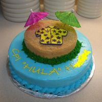 """hula Cake""   another view of the hula cake"