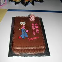 Bratz Birthday Cake.  For a firend's daughter's birthday. She is half Okinawan and is bi-lingual. She wanted a chocolate cake with chocolate icing and...