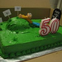Over The Hill?   just another view. This was a really fun cake to do.